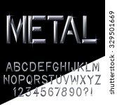 metal bars alphabet handcrafted.... | Shutterstock .eps vector #329501669