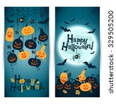 halloween background of... | Shutterstock .eps vector #329505200