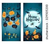 halloween background of... | Shutterstock .eps vector #329505200