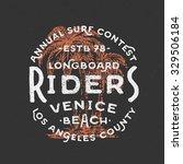 vintage hand lettered venice...   Shutterstock .eps vector #329506184