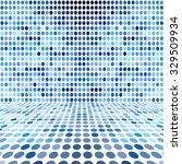 blue dot empty perspective... | Shutterstock . vector #329509934