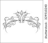 drawing hand vintage frame... | Shutterstock .eps vector #329510240
