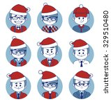set of icons with christmas... | Shutterstock . vector #329510480
