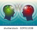 profile of human head with a...