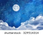 watercolor nightly dramatic...   Shutterstock . vector #329514314