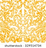 floral art gold color pattern...   Shutterstock .eps vector #329514734