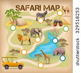 poster for game with safari map ... | Shutterstock .eps vector #329518253