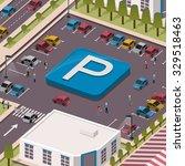 parking lot concept in 3d...   Shutterstock .eps vector #329518463