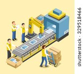 robotic production line concept ... | Shutterstock .eps vector #329518466