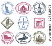 monuments and world landmarks... | Shutterstock .eps vector #329518976