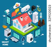 smart home iot internet of... | Shutterstock .eps vector #329520023