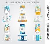brochure design vector set | Shutterstock .eps vector #329522354