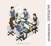 creative team concept in 3d... | Shutterstock . vector #329526749