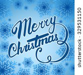 vector merry christmas card.... | Shutterstock .eps vector #329531150