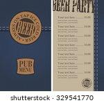 menu for the pub in a retro... | Shutterstock .eps vector #329541770