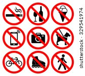 prohibition symbols set. nine... | Shutterstock .eps vector #329541974