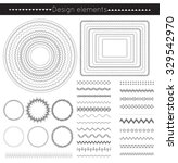 Vector Line Border Set And...