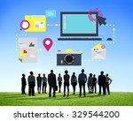 technology media social network ... | Shutterstock . vector #329544200