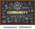 doodle about community on... | Shutterstock .eps vector #329548619