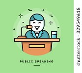 public speaking  flat design... | Shutterstock .eps vector #329549618