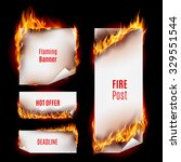 Hot Fire Banners Set With...