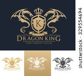 dragon king luxury crest logo... | Shutterstock .eps vector #329554694