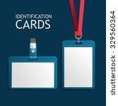 badge identification white... | Shutterstock . vector #329560364