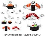 nigiri sushi with shrimp and...
