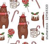 Hand Drawn Christmas Seamless...