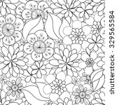floral hand drawn seamless... | Shutterstock .eps vector #329565584