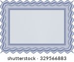 sample certificate or diploma.... | Shutterstock .eps vector #329566883