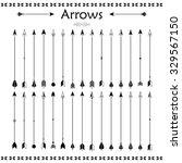 big set of different arrows.... | Shutterstock . vector #329567150