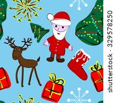 seamless pattern with christmas ... | Shutterstock .eps vector #329578250