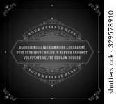 vintage ornament quote marks... | Shutterstock .eps vector #329578910