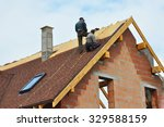 roofing construction and... | Shutterstock . vector #329588159