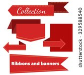 the collection of retro ribbons ... | Shutterstock .eps vector #329588540