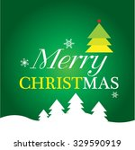 christmas card with christmas... | Shutterstock .eps vector #329590919