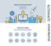 design and development website... | Shutterstock .eps vector #329595278