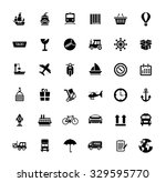 collection shipping ... | Shutterstock .eps vector #329595770