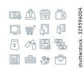 a set of various finance icons  ... | Shutterstock .eps vector #329596004