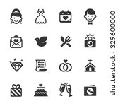 wedding icons  mono series | Shutterstock .eps vector #329600000