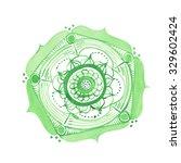 watercolor mandala on white... | Shutterstock . vector #329602424