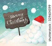 vector hand drawn winter... | Shutterstock .eps vector #329604599