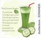 mint and cucumber smoothie  | Shutterstock .eps vector #329604830