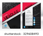 business brochure template.... | Shutterstock .eps vector #329608493