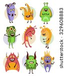 set of emotional colourful... | Shutterstock .eps vector #329608883