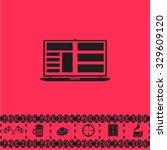 notebook. black flat... | Shutterstock . vector #329609120