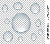 drops on isolated background ... | Shutterstock . vector #329609894