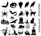 halloween icon vector | Shutterstock .eps vector #329614940