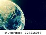 earth on galaxy abstract...